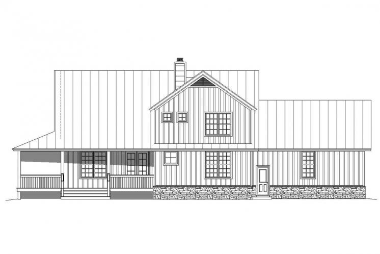 Country House Plan - Patriot Ranch 15630 - Rear Exterior