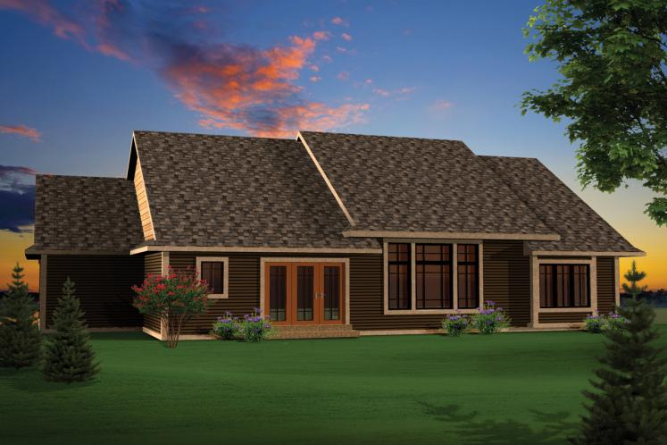 Ranch House Plan -  15753 - Rear Exterior