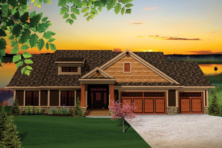 Craftsman House Plan -  15753 - Front Exterior