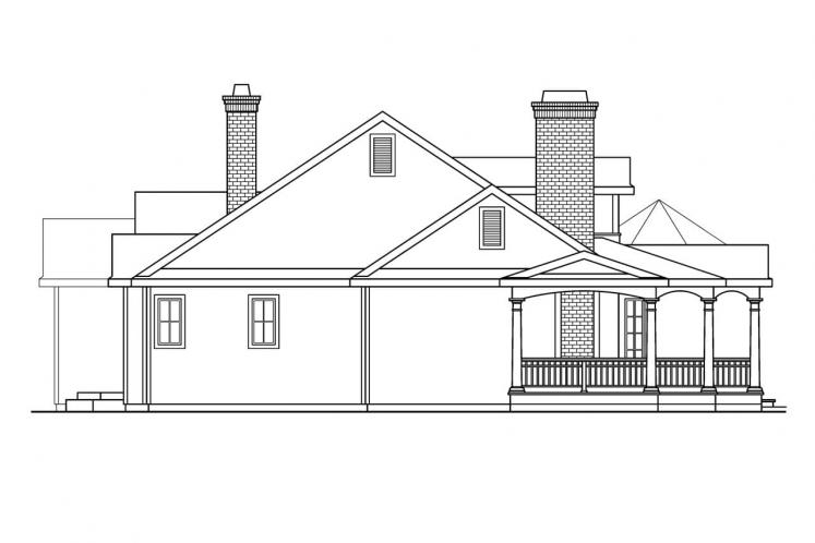 Southern House Plan - Greenbriar 15760 - Left Exterior
