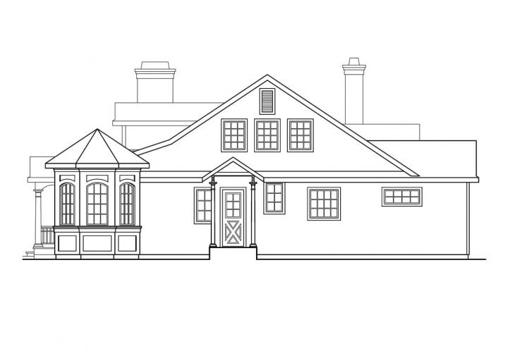 Country House Plan - Greenbriar 15760 - Right Exterior