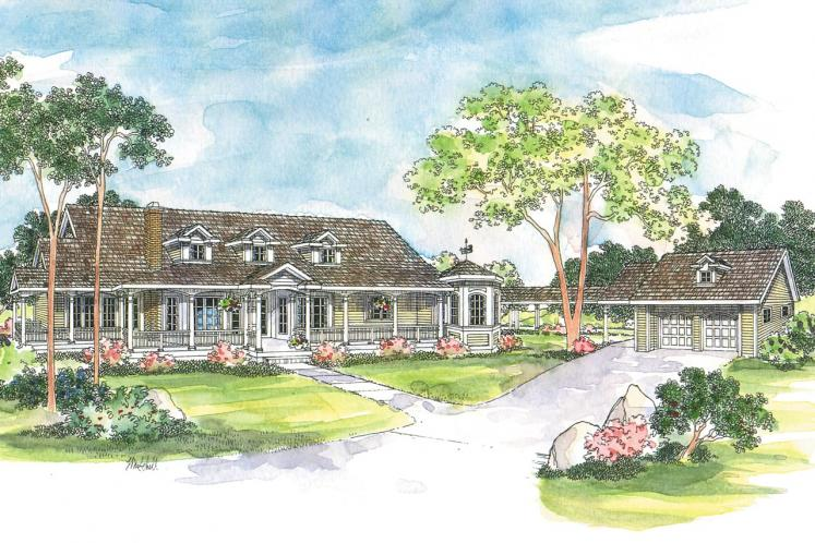 Country House Plan - Greenbriar 15760 - Front Exterior