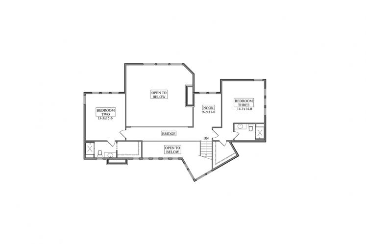 Contemporary House Plan - Saddleback 15797 - 2nd Floor Plan