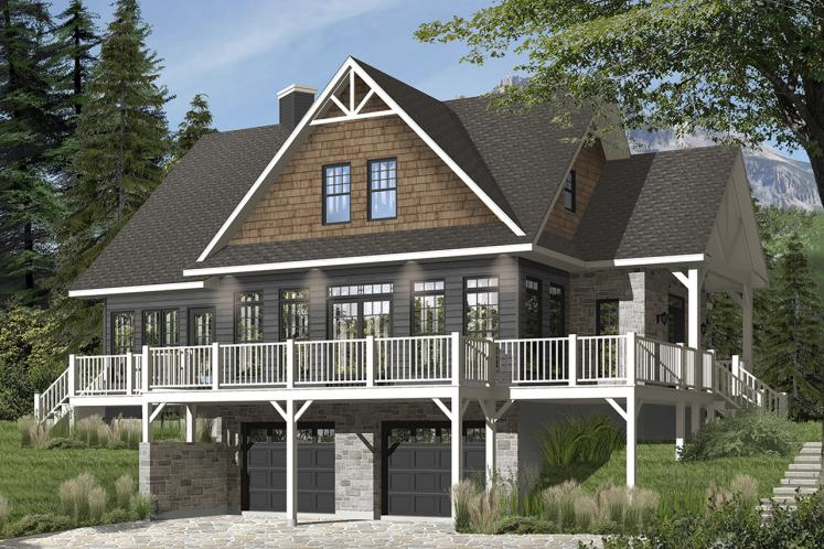 Country House Plan - Pocono 4 15803 - Front Exterior
