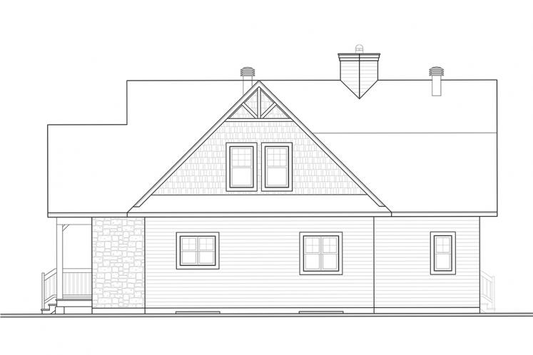 Cottage House Plan - Pocono 4 15803 - Rear Exterior
