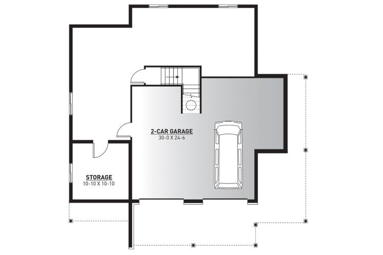Country House Plan - Pocono 4 15803 - Basement Floor Plan
