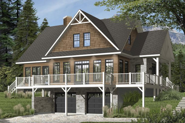 Cottage House Plan - Pocono 4 15803 - Front Exterior