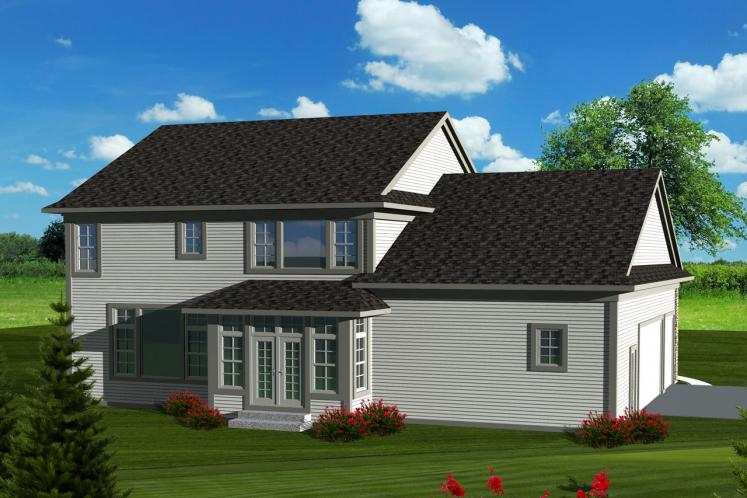 Classic House Plan -  15832 - Rear Exterior