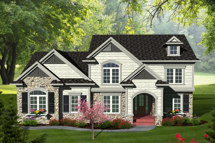 Traditional House Plan -  15832 - Front Exterior