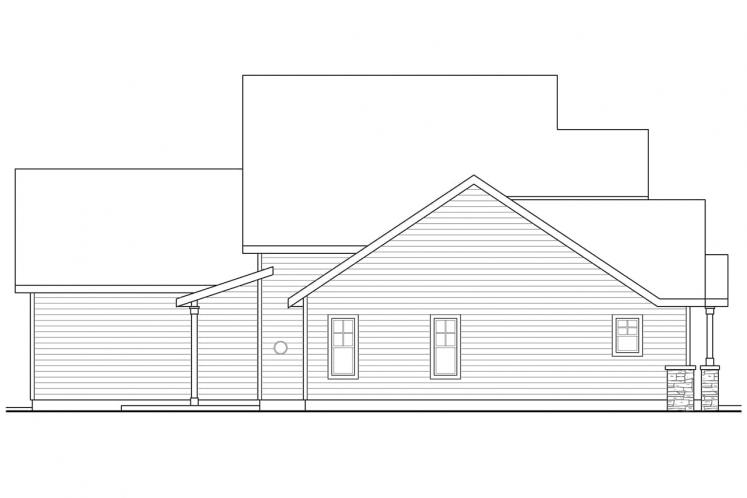 Traditional House Plan - Awbery 15856 - Left Exterior