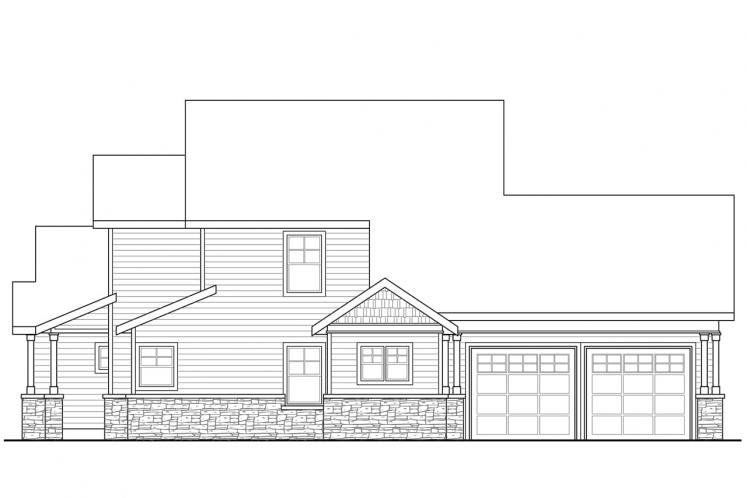 Craftsman House Plan - Awbery 15856 - Right Exterior