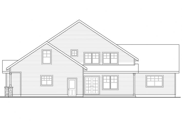 Cottage House Plan - Awbery 15856 - Rear Exterior