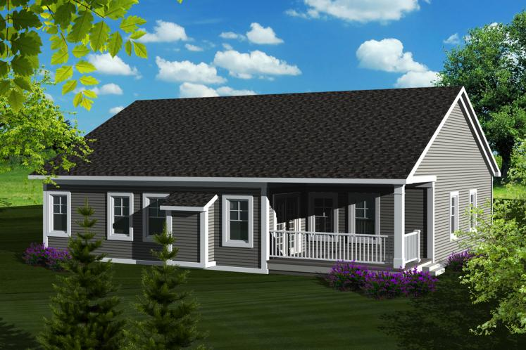 Traditional House Plan -  15906 - Rear Exterior