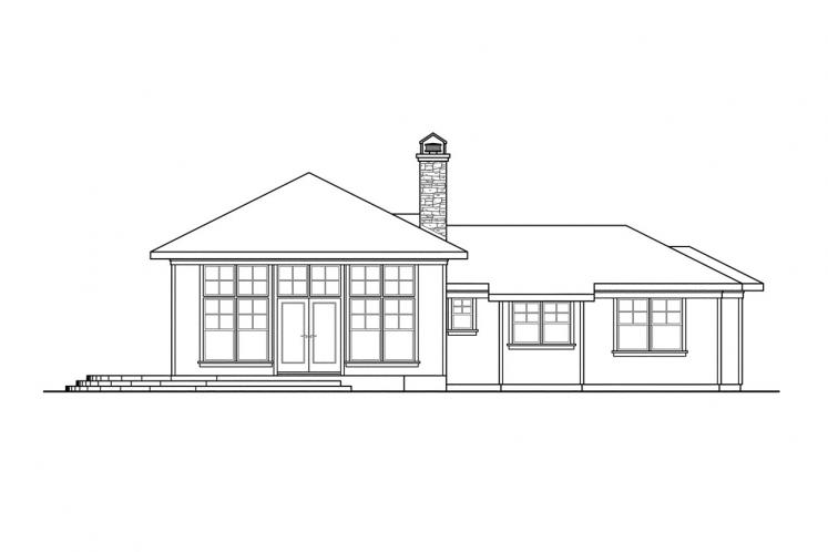 Craftsman House Plan - Heartview 15964 - Left Exterior