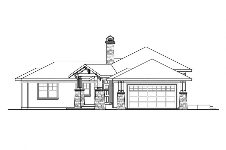 Ranch House Plan - Heartview 15964 - Right Exterior