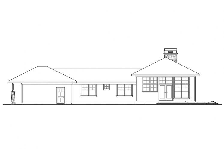 Bungalow House Plan - Heartview 15964 - Rear Exterior