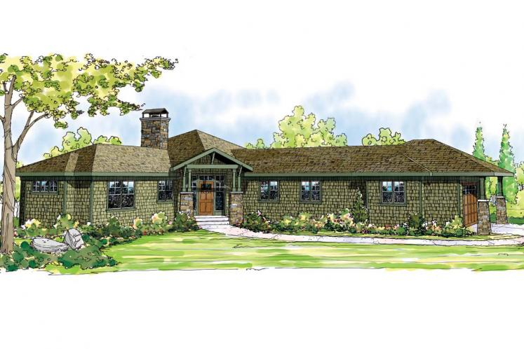 Ranch House Plan - Heartview 15964 - Front Exterior