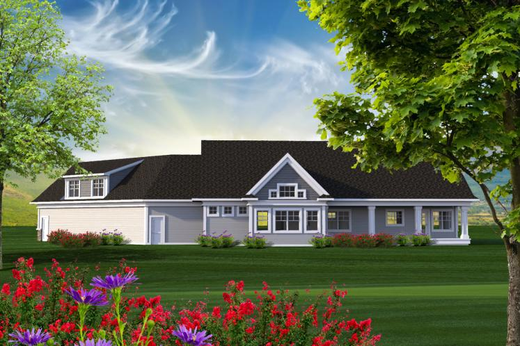 Country House Plan -  16071 - Rear Exterior