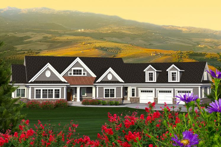 Ranch House Plan -  16071 - Front Exterior