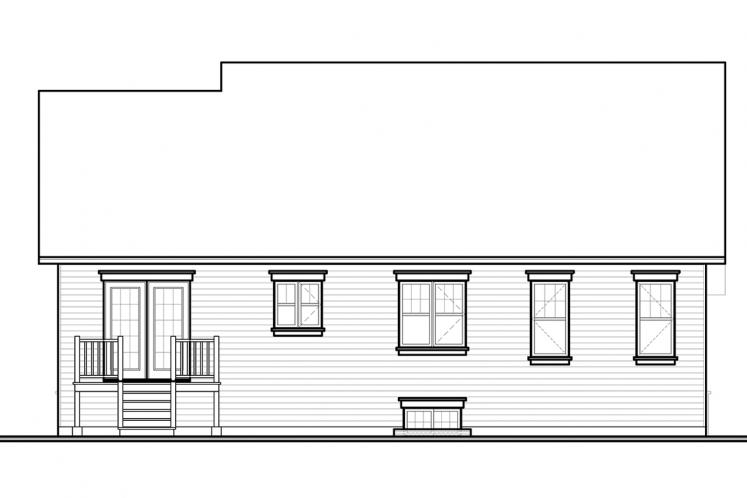 Country House Plan - Brewster 16090 - Rear Exterior