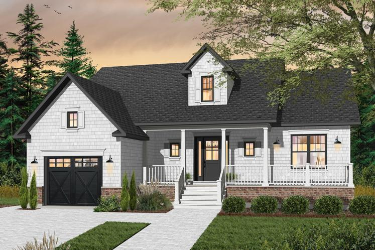 Farmhouse House Plan - Brewster 16090 - Front Exterior