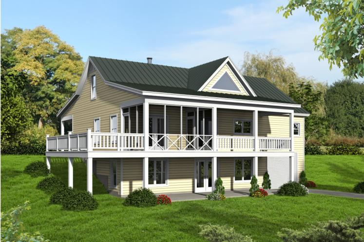 Cottage House Plan -  16266 - Rear Exterior
