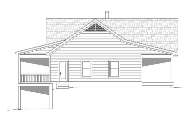 Ranch House Plan -  16266 - Left Exterior