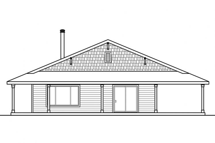 Ranch House Plan - Madrone 16328 - Right Exterior