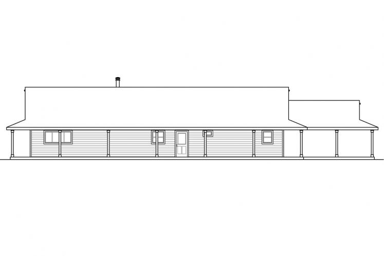 Country House Plan - Madrone 16328 - Rear Exterior
