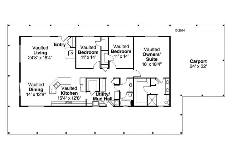 Country House Plan - Madrone 16328 - 1st Floor Plan