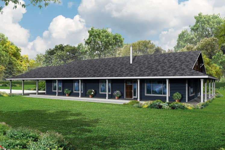 Ranch House Plan - Madrone 16328 - Front Exterior