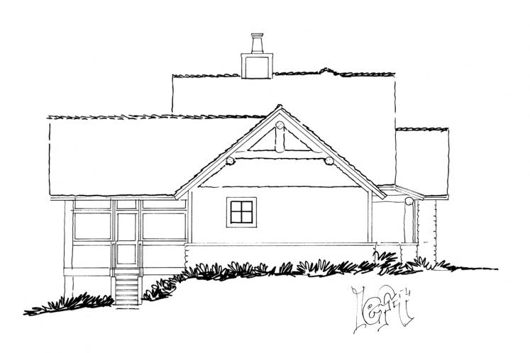 Traditional House Plan - Cedar Point 16372 - Left Exterior