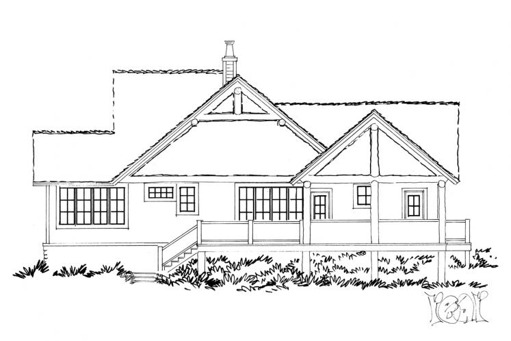 Craftsman House Plan - Cedar Point 16372 - Rear Exterior
