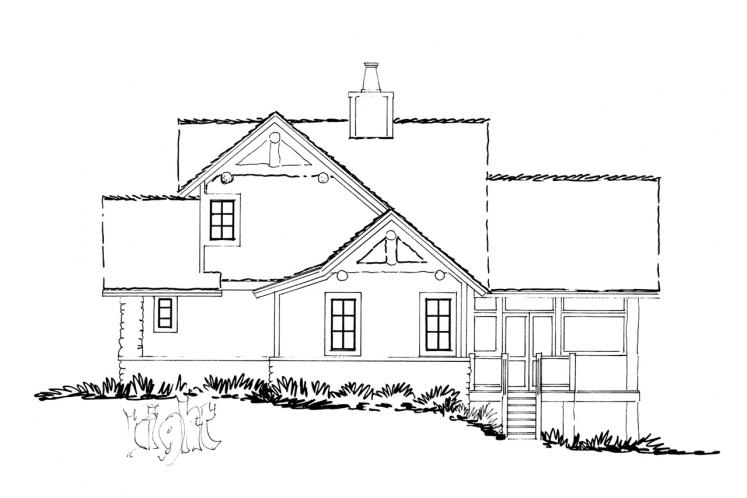 Craftsman House Plan - Cedar Point 16372 - Right Exterior