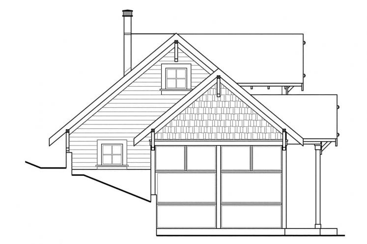 Cottage House Plan - Northlake 16380 - Left Exterior