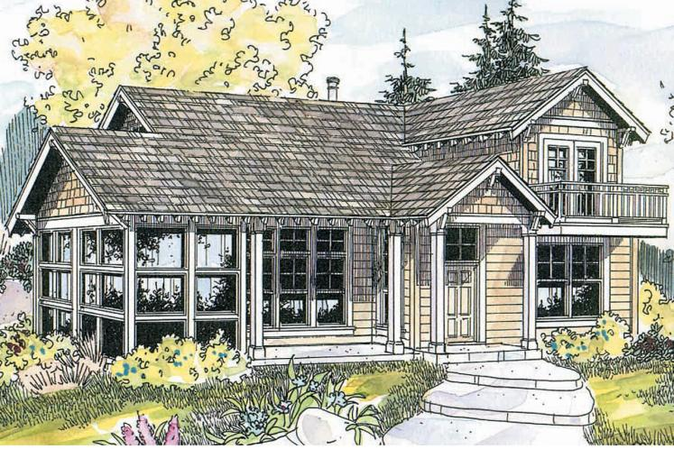 Craftsman House Plan - Northlake 16380 - Front Exterior