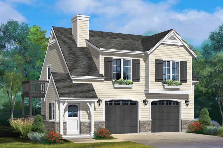 Traditional Garage Plan -  16405 - Front Exterior
