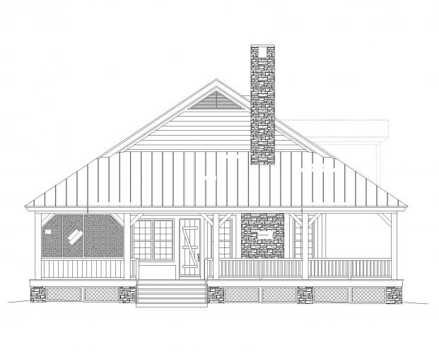 Lodge Style House Plan -  16482