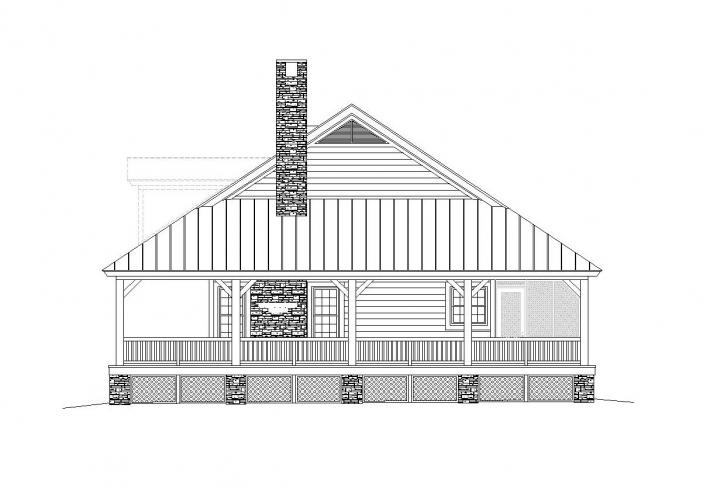 Country House Plan -  16482