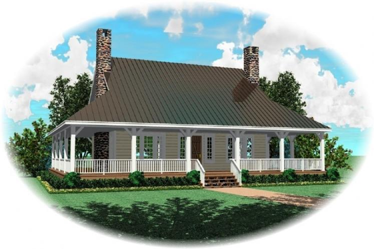 Country House Plan -  16482 - Front Exterior