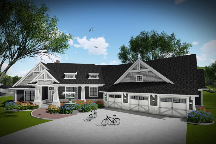 Ranch House Plan -  16533 - Front Exterior