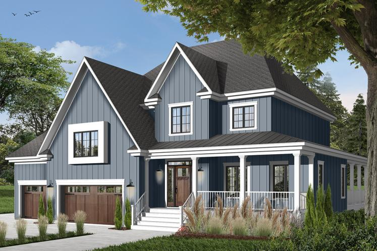 Country House Plan - Merriwood 4 16655 - Front Exterior