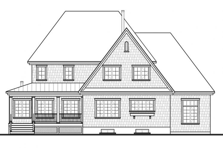 Farmhouse House Plan - Merriwood 4 16655 - Rear Exterior