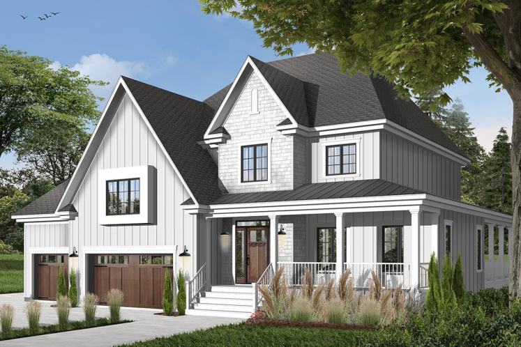 Farmhouse House Plan - Merriwood 4 16655 - Front Exterior