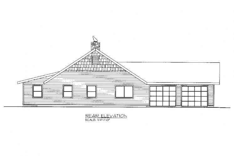 Cottage House Plan -  16767 - Rear Exterior