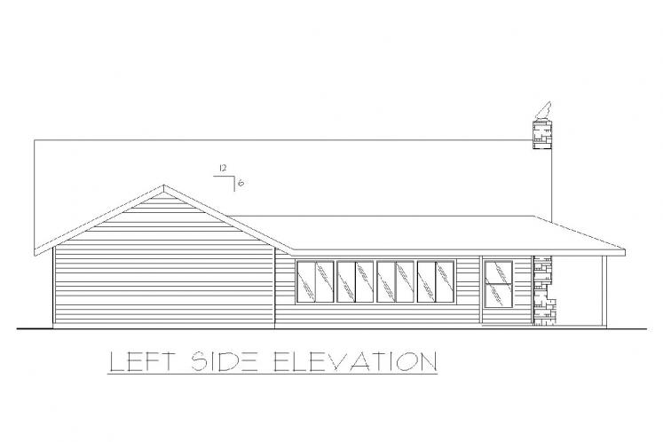 Country House Plan -  16767 - Left Exterior