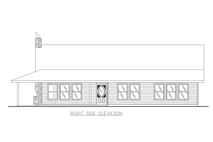 Bungalow House Plan -  16767 - Right Exterior