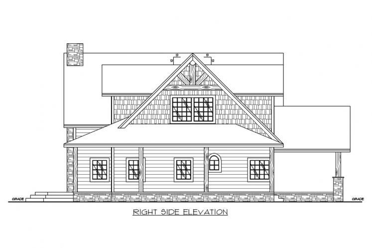 Lodge Style House Plan -  16791 - Right Exterior