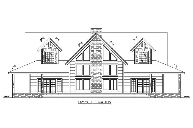 A-Frame House Plan -  16791 - Front Exterior