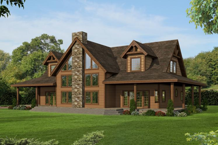 Lodge Style House Plan -  16791 - Front Exterior